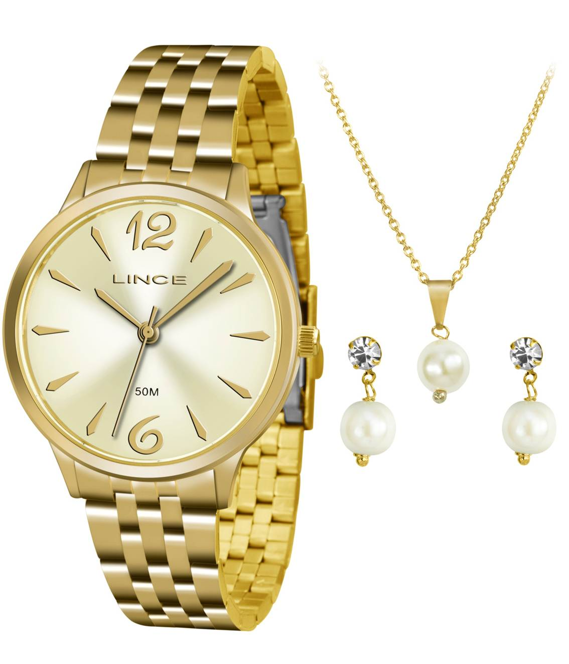 7a881597a30 Relógio Lince Feminino Kit LRGH047L KT91C2KX Colar + Brinco - Janne ...