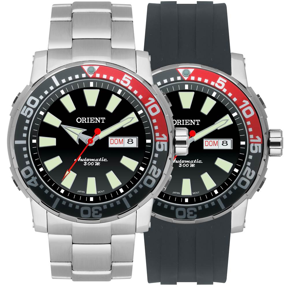 63a8e2b41b7 Relógio Orient Automatico Scuba Diver 469SS039 PVSX - Janne Semijoias