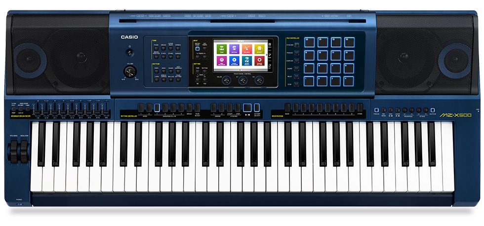 17be3beac5b Teclado Casio Mzx 500 Arranjador Sample 256Mb 16 pads Sensitivos