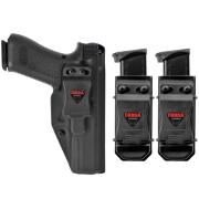 Coldre Glock [G21] [G20] Kydex + 2 Porta-Carregadores Universais - Saque Rápido Velado Kydex® 080