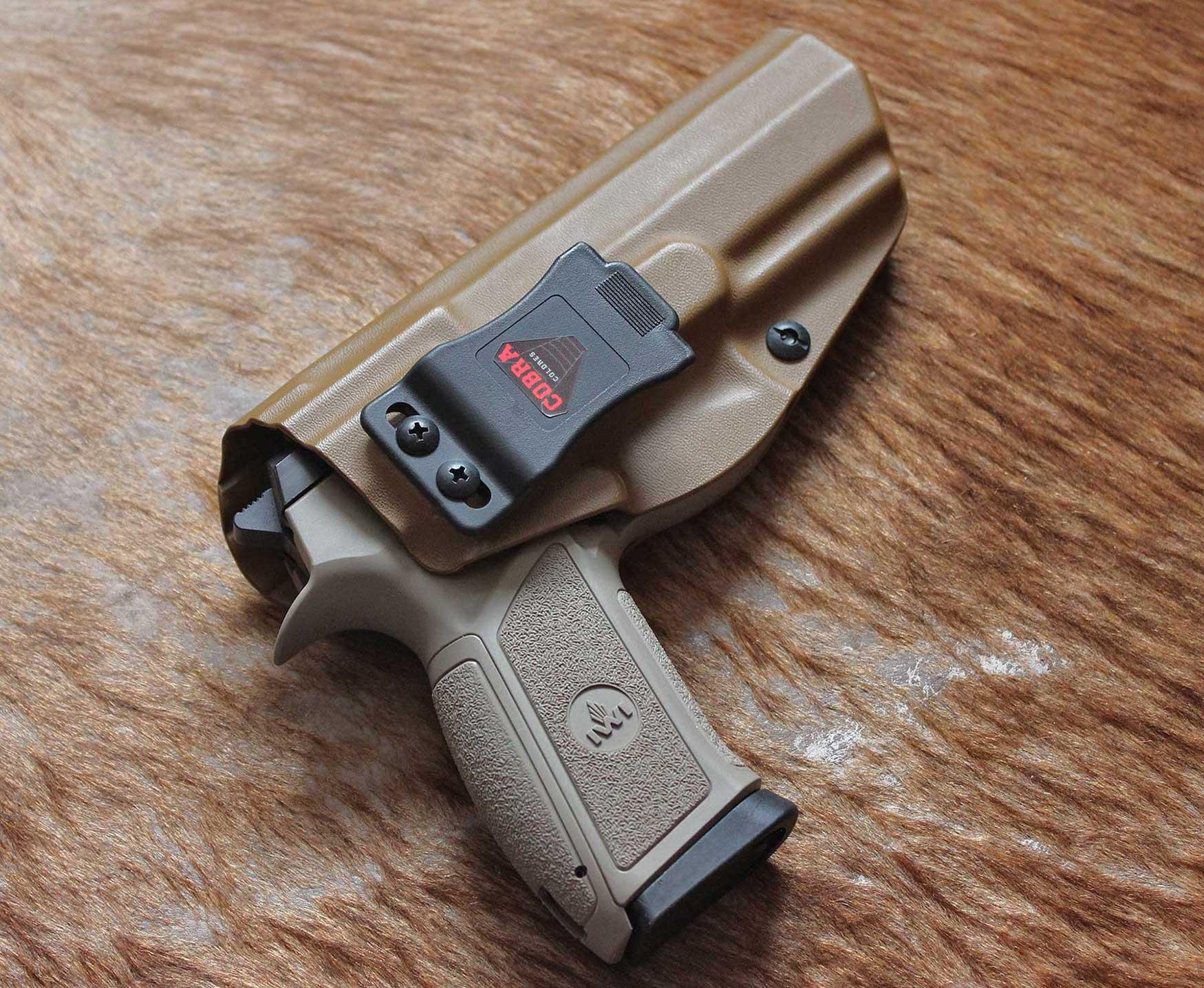 Coldre Cobra IWI [Jericho] [PL 941] - Jerichó Polímero 9mm - Cano 112mm - Saque Rápido Velado -  Kydex® 080 - Coyote