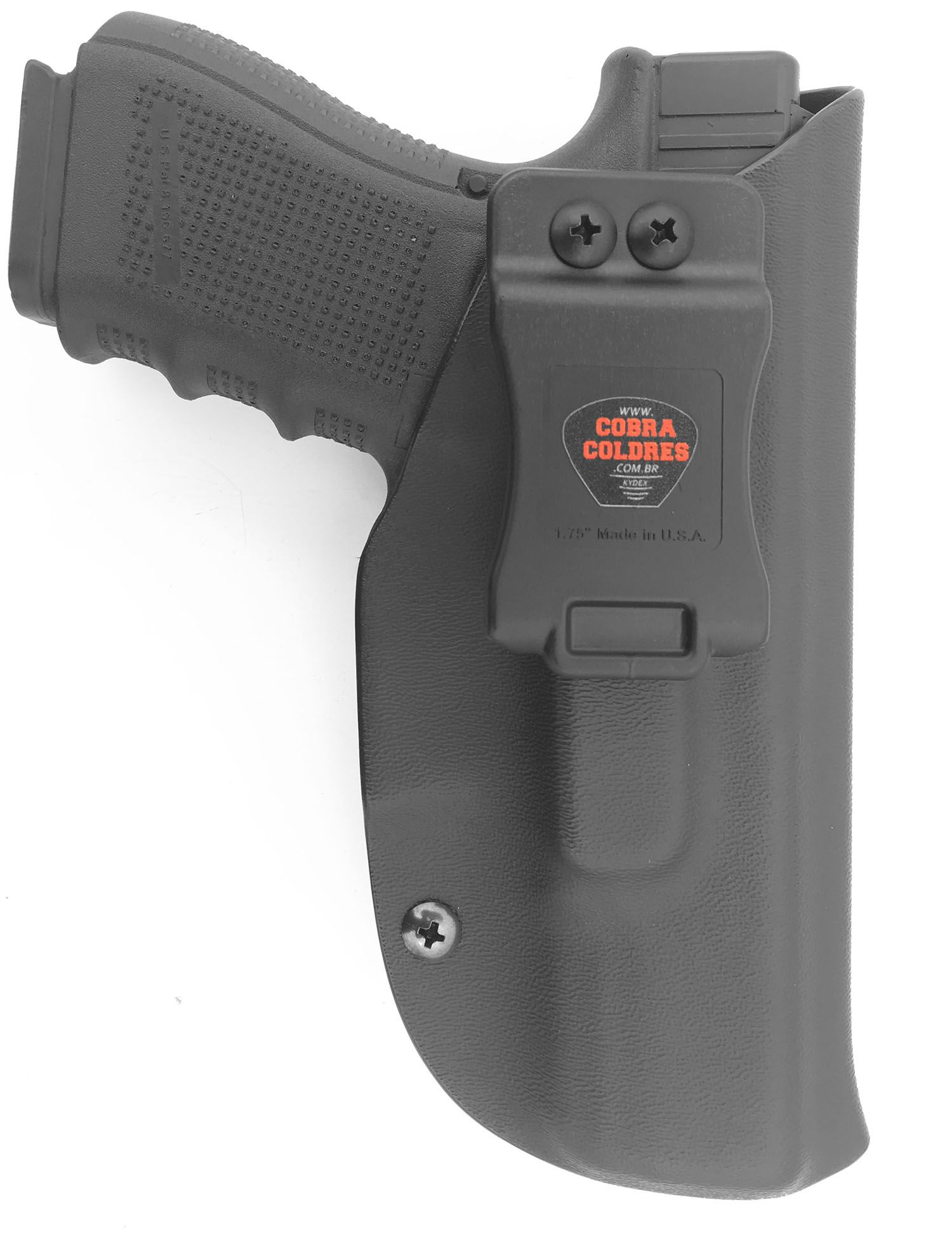 Coldre G25 / G19 / G23 / G32 / G38 Glock Saque Rápido Kydex