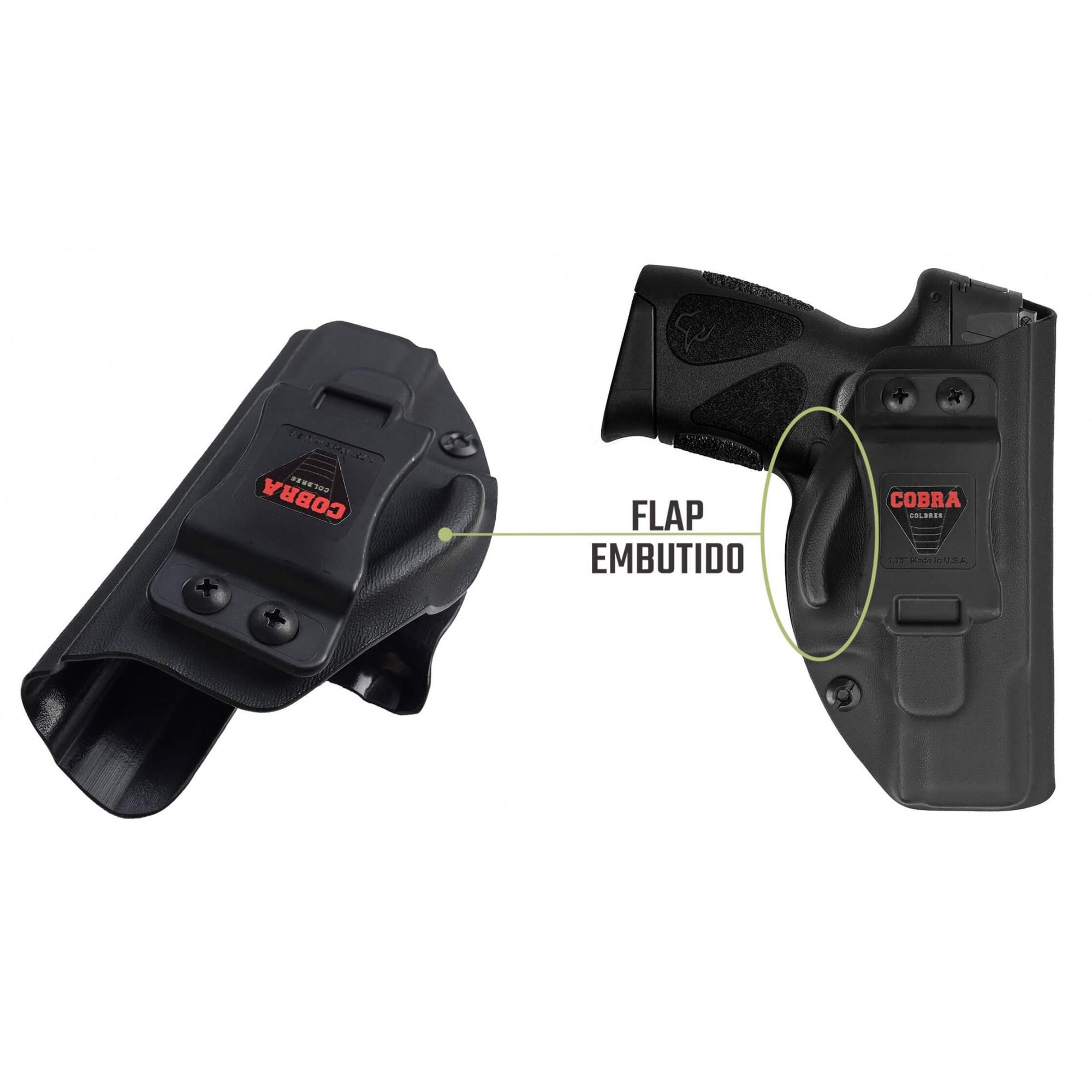 Coldre [G2c .40] Kydex Com Flap + Porta-Carregador - Saque Rápido Velado Kydex®