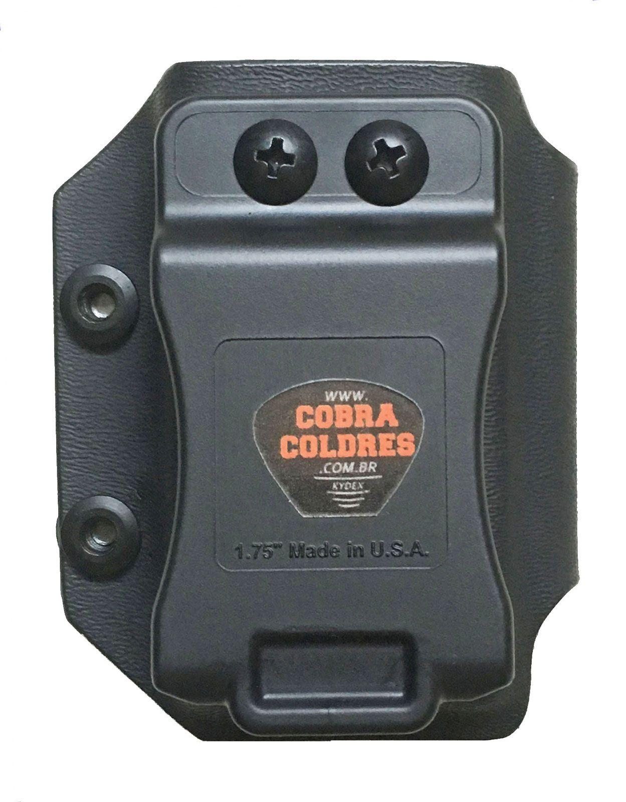 Coldre [G2c] .40 Kydex Slim + 2 Porta-Carregadores - Saque Rápido Velado Kydex® 080