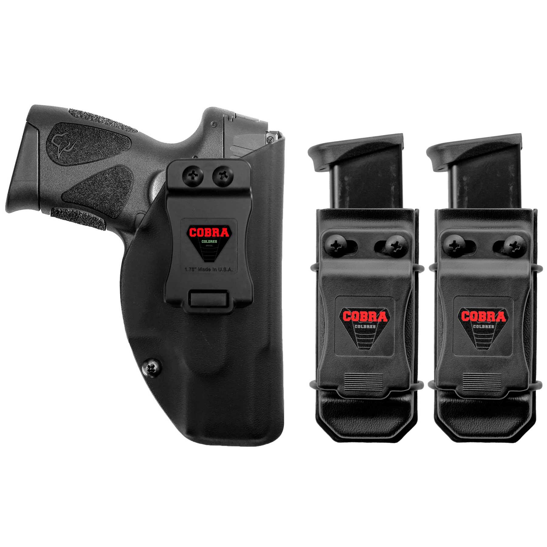 Coldre [G2c] 9mm e .40 Kydex + 2 Porta-Carregadores Universais - Saque Rápido Velado Kydex® 080