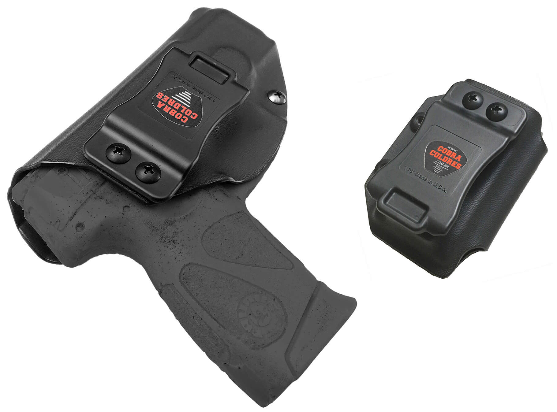 Coldre [G2c] 9mm Kydex Slim + Porta-Carregador Saque Rápido Velado Kydex® 080