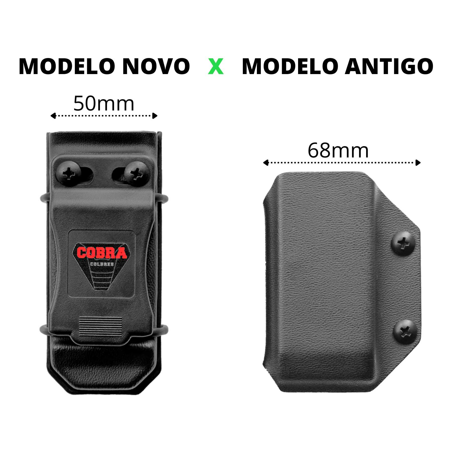 Coldre Glock [G22 Gen5] Kydex + 1 Porta-Carregador Universal - Saque Rápido Velado Kydex® 080