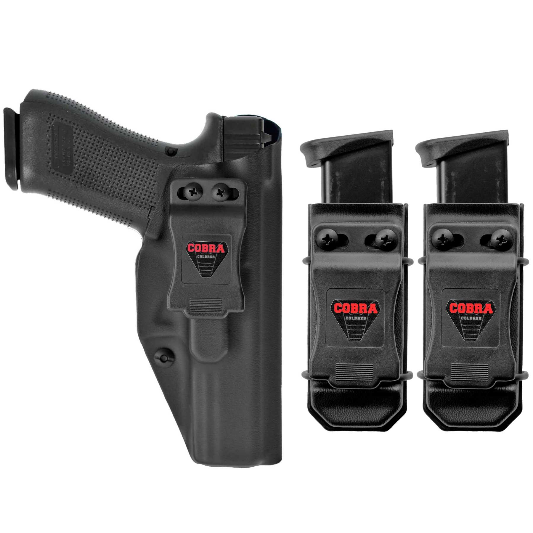 Coldre Glock [G17] [G22] [G31] Kydex + 2 Porta-Carregadores Universais - Saque Rápido Velado Kydex® 080