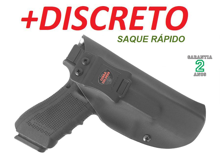 COLDRE INTERNO DE KYDEX P/ G17 / G22 17 (GLOCK 17/22) - 080 (+- 2mm)