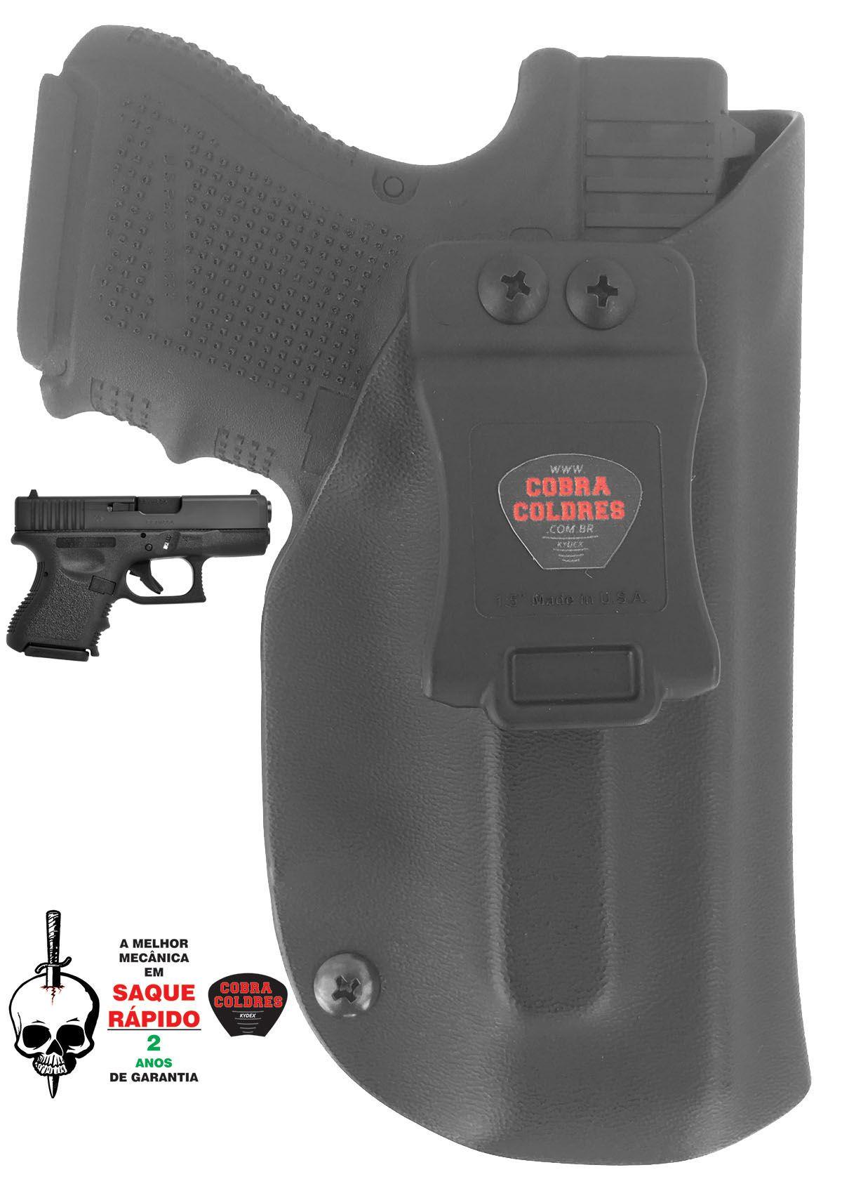 Coldre G28 / G26 / G27 / G33 Glock Saque Rápido Kydex