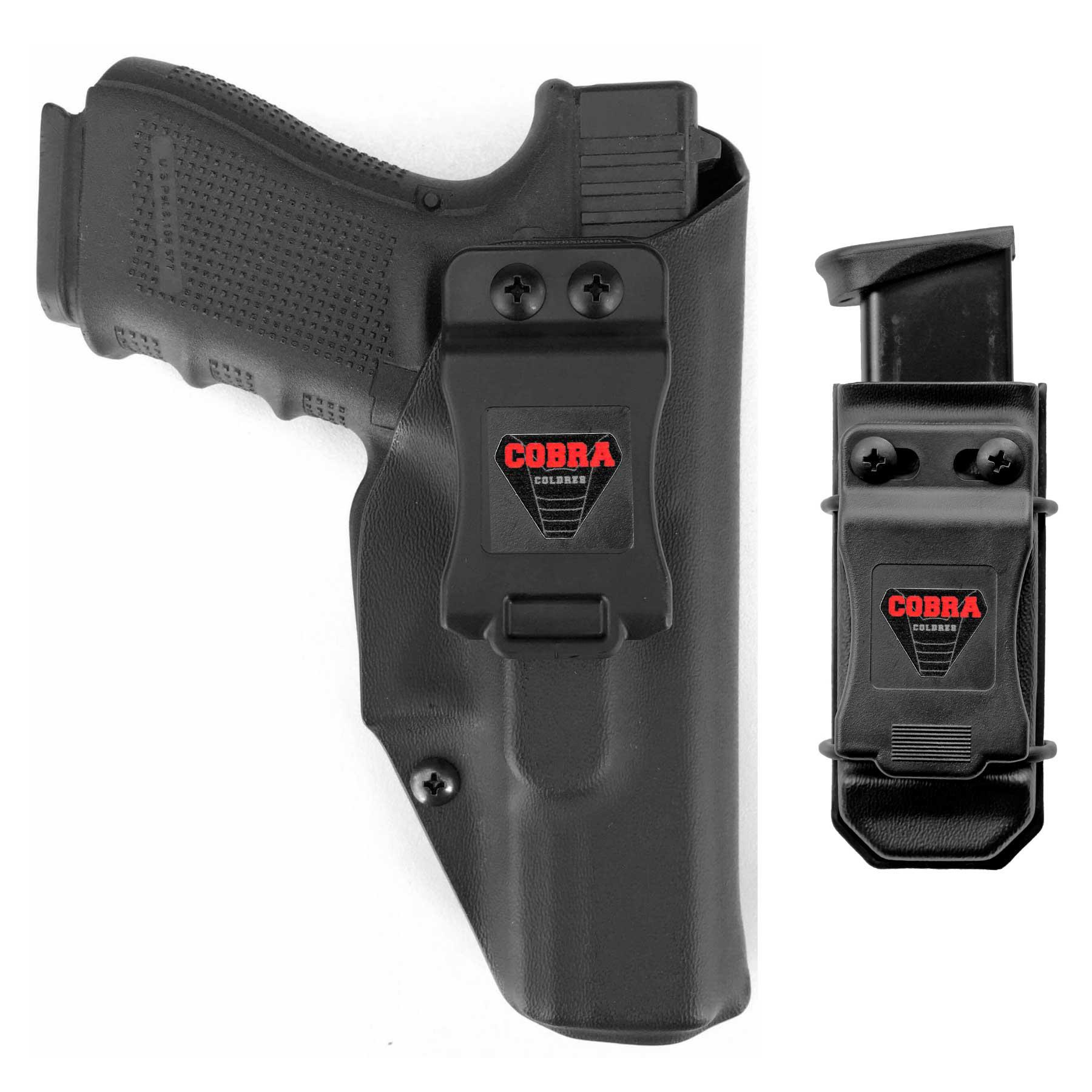 Coldre Kydex Glock [G19] [G19x] [G25] [G23] [G32] [G38] [G45] + 1 Porta-Carregador Universal - Saque Rápido Velado Kydex® 080
