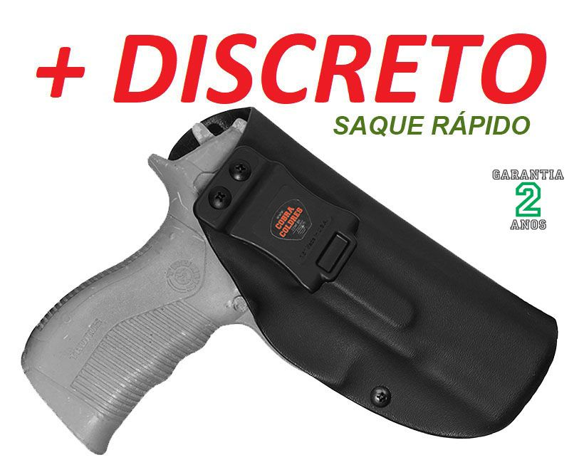 COLDRE PARA TH 380 e TH 40 PISTOLA TAURUS TH380 TH40 INTERNO DE KYDEX - 080 (+- 2mm)
