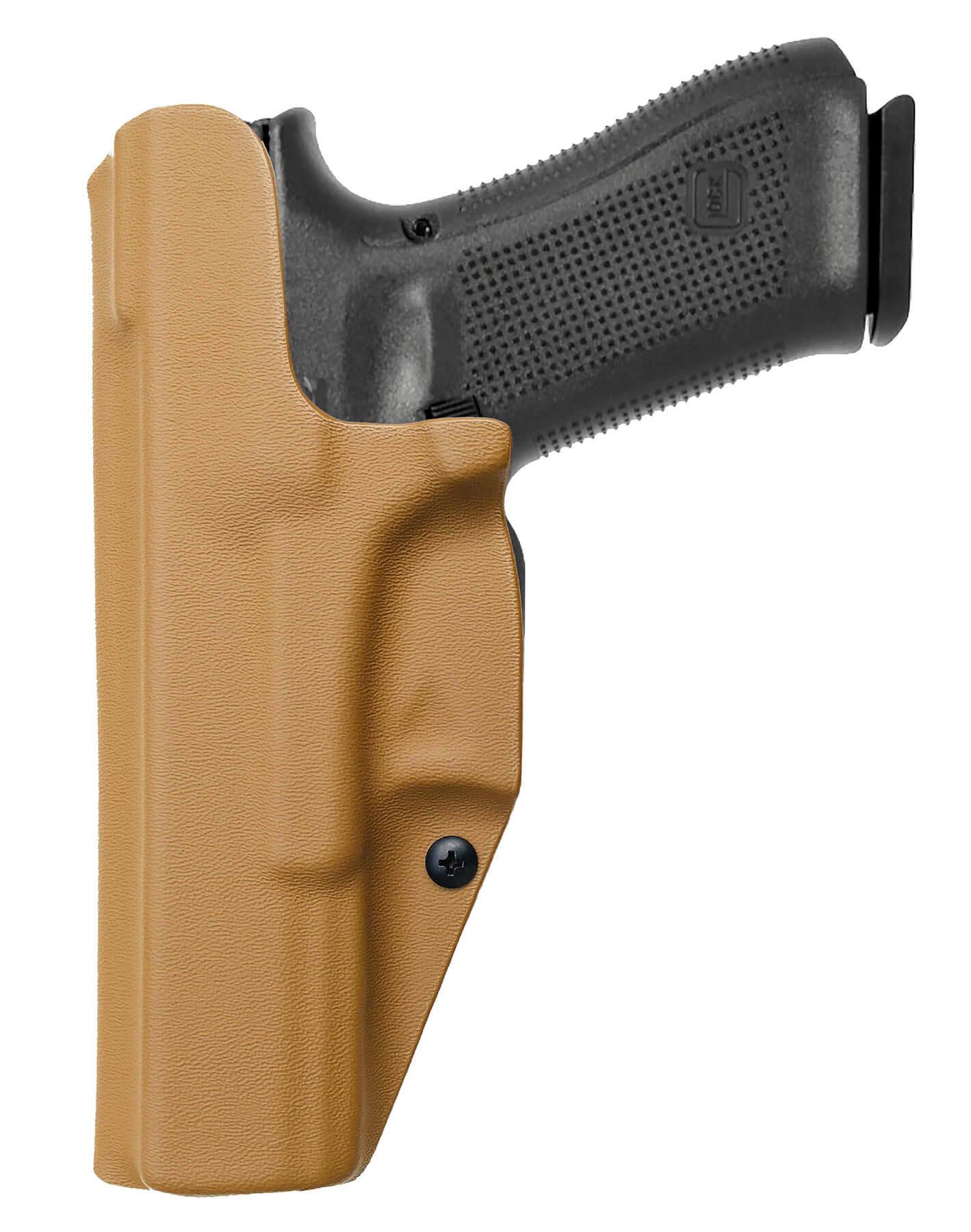 Coldre Slim [G17] [G22] Glock Saque Rápido Velado Kydex® 080 - Coyote Brown / Areia