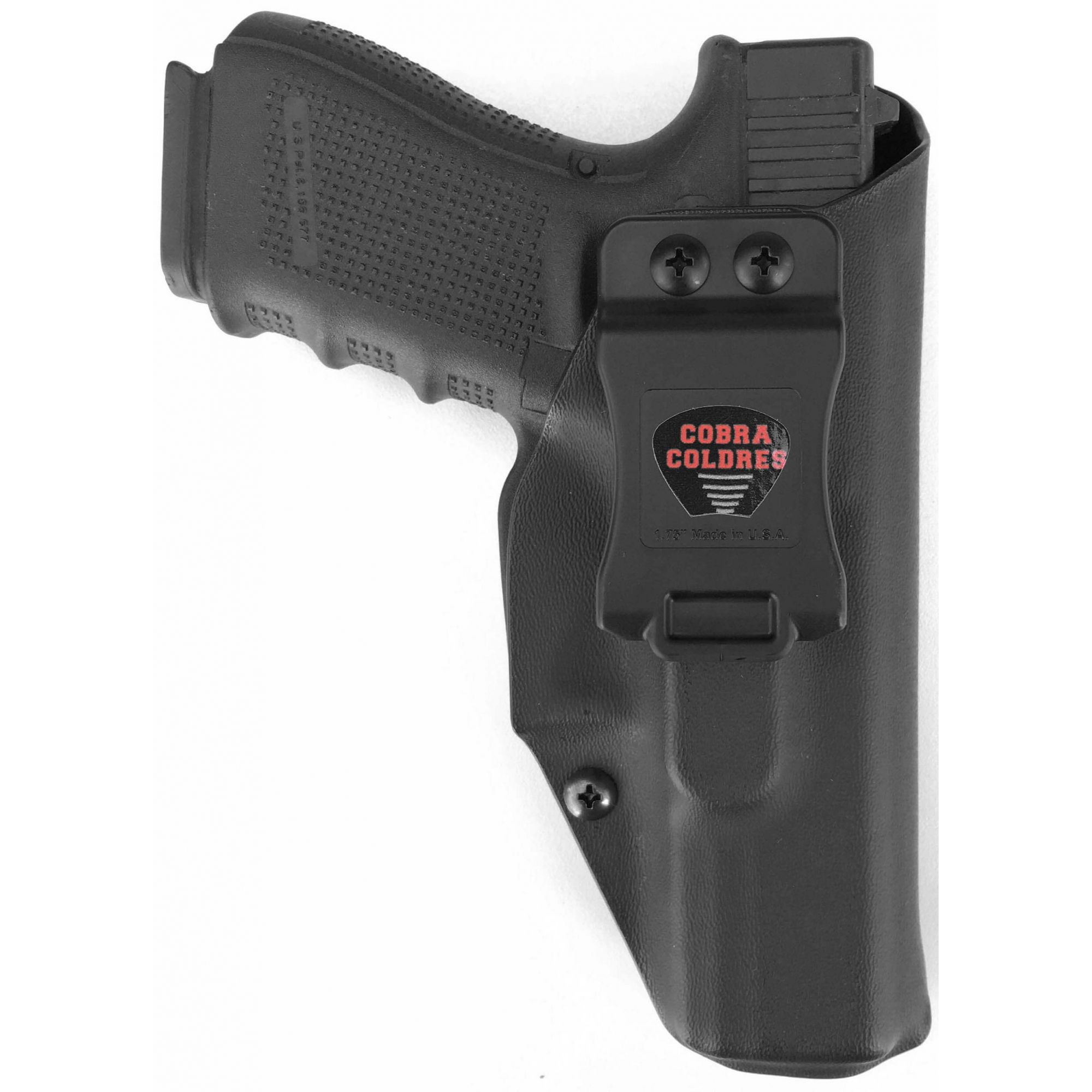 Coldre Slim [G19] [G19x] [G25] [G23] [G32] [G38] [G45] Glock Saque Rápido Velado Kydex® 080
