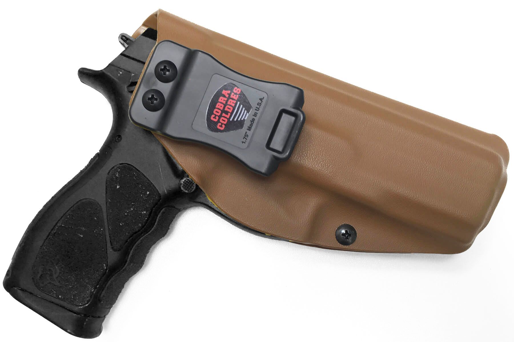 Coldre Slim TH9 TH40 TH380 Saque Rápido Velado Kydex® 080 - Coyote Brown