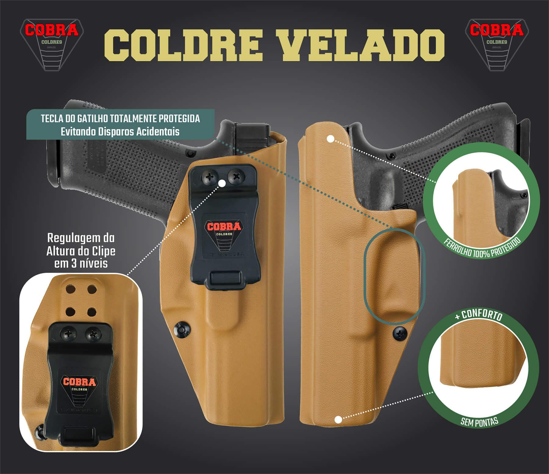 Coldre [TS9] [TS] - Flap Embutido - Kydex® Taurus Striker - Slim