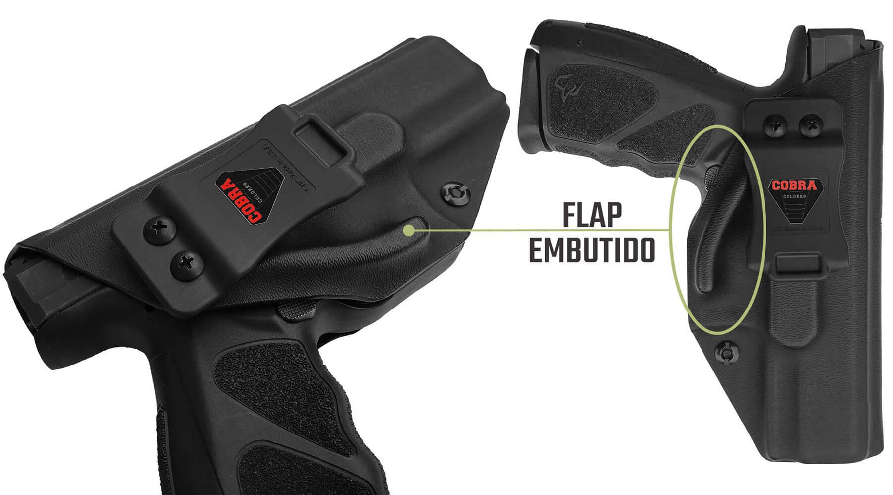 Coldre [TS9] [TS] Kydex® Com Flap + 2 Porta-Carregadores - Taurus Striker - Slim - Saque Rápido Velado