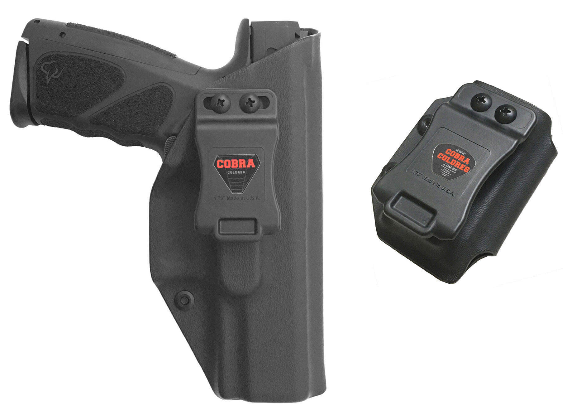 Coldre [TS9] [TS] Kydex® + Porta-Carregador - Taurus Striker - Slim - Saque Rápido Velado - 080