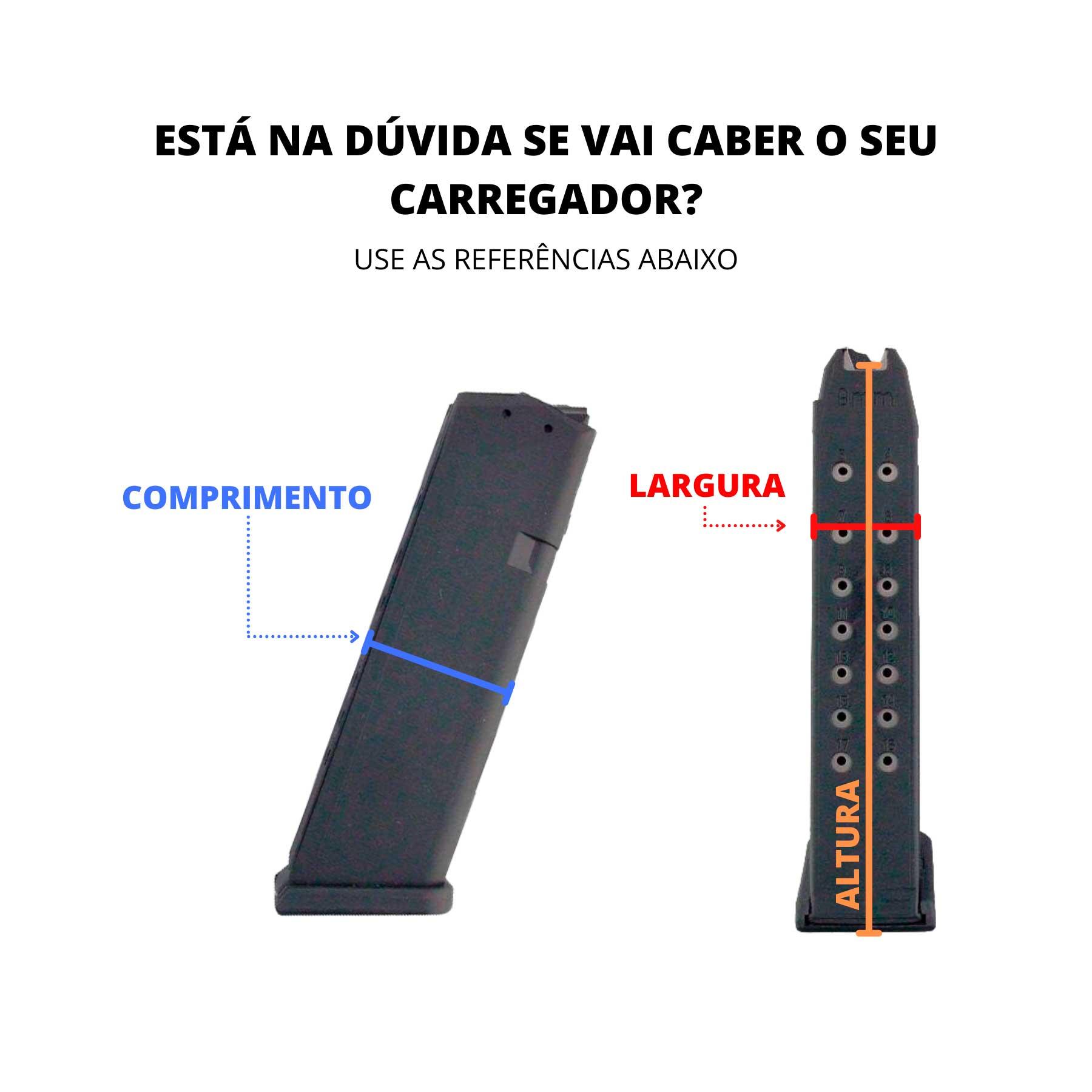Porta-Carregador Universal Híbrido - Uso Velado e ostensivo - Kydex Cobra