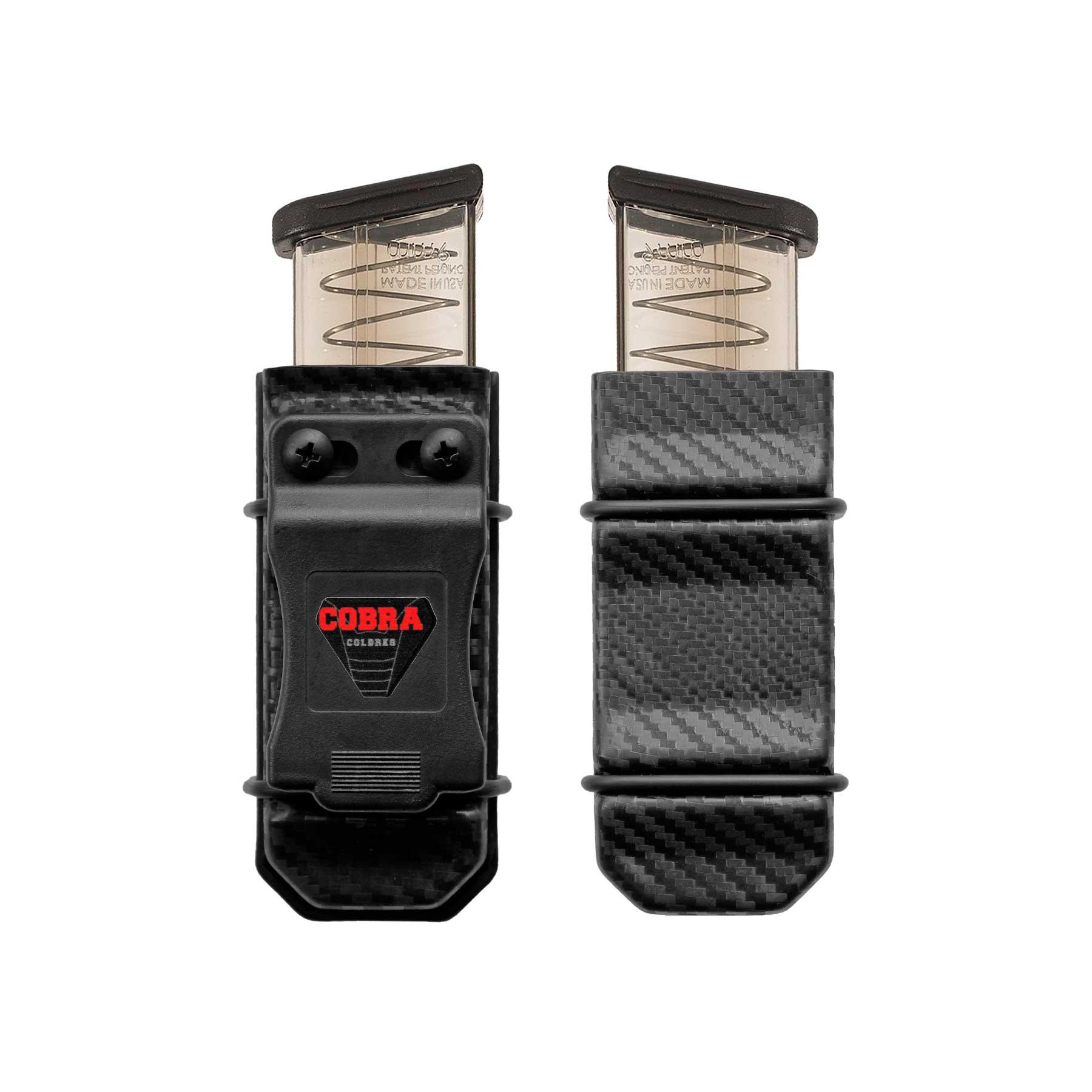 Porta-Carregador Universal Híbrido - Uso Velado e ostensivo - Kydex Cobra - Carbono