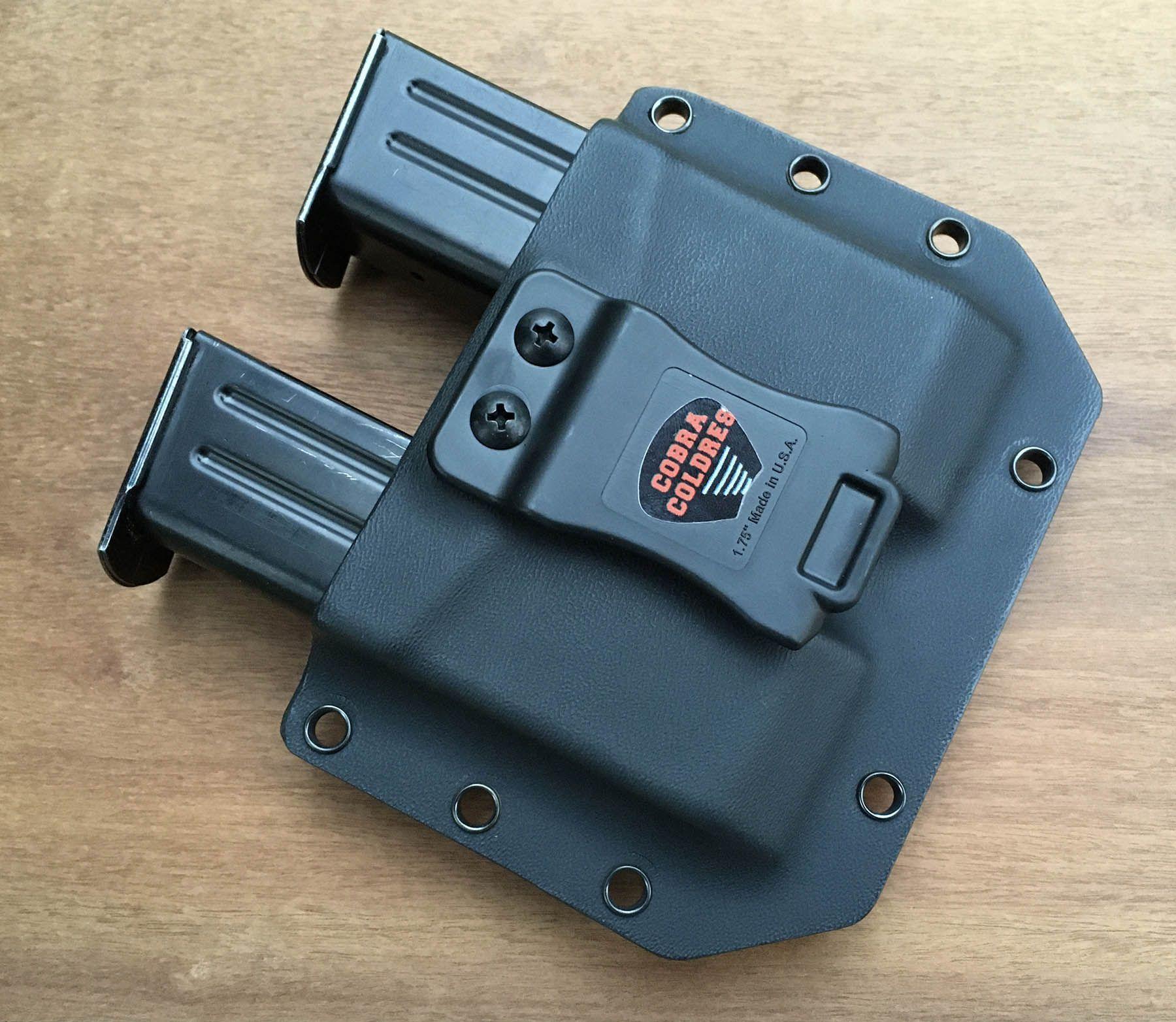 Porta Carregador Velado Duplo [Imbel Bifilar] [Glock Bifilar .40, 380 e 9mm] [Kydex] [Polímero]