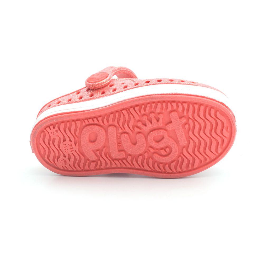 Babuche Plugt Joy Pop Gliter Coral