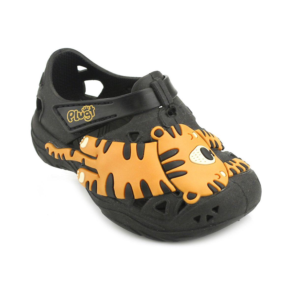 Babuche Plugt Tigre Preto