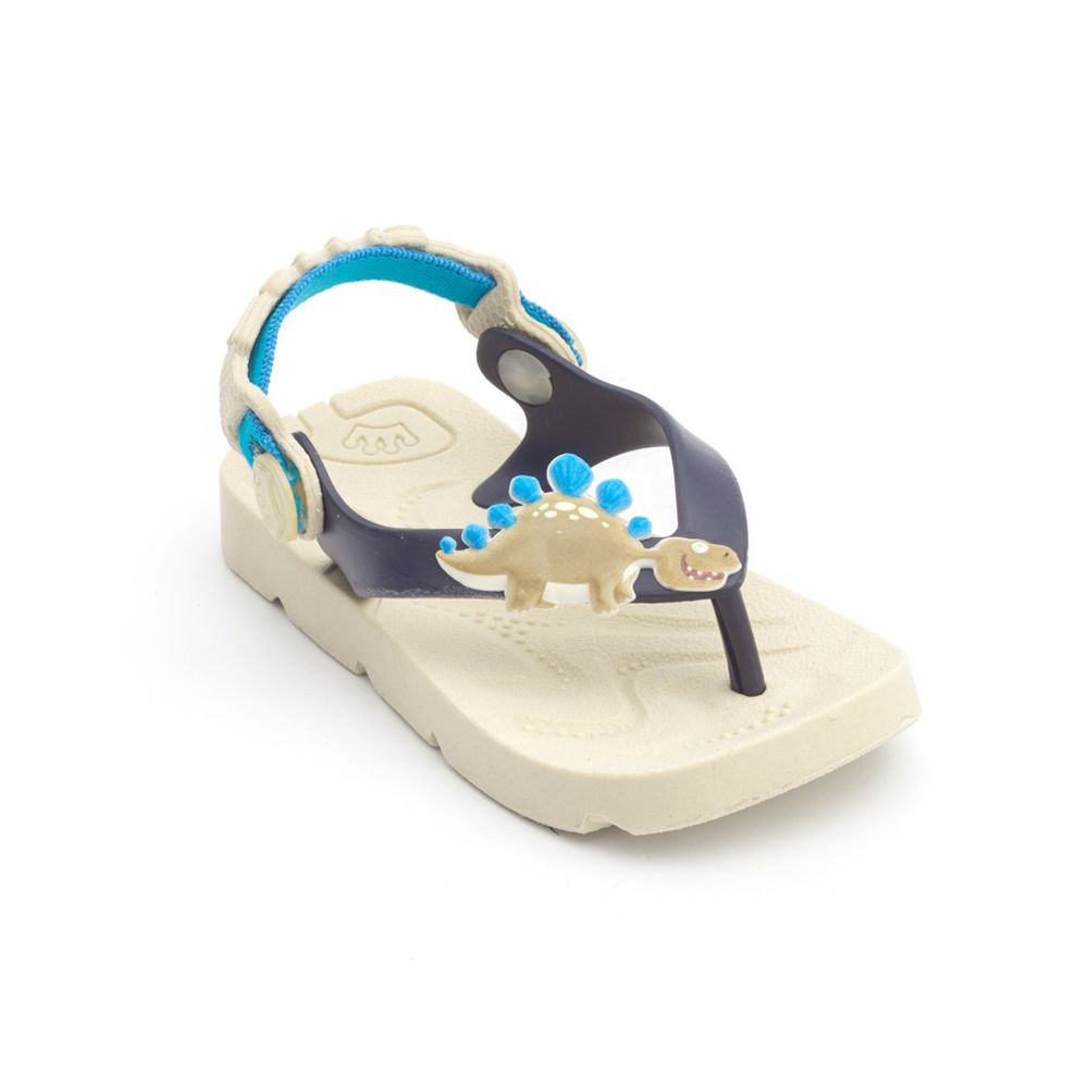 Chinelo Plugt Beach Dino Bege
