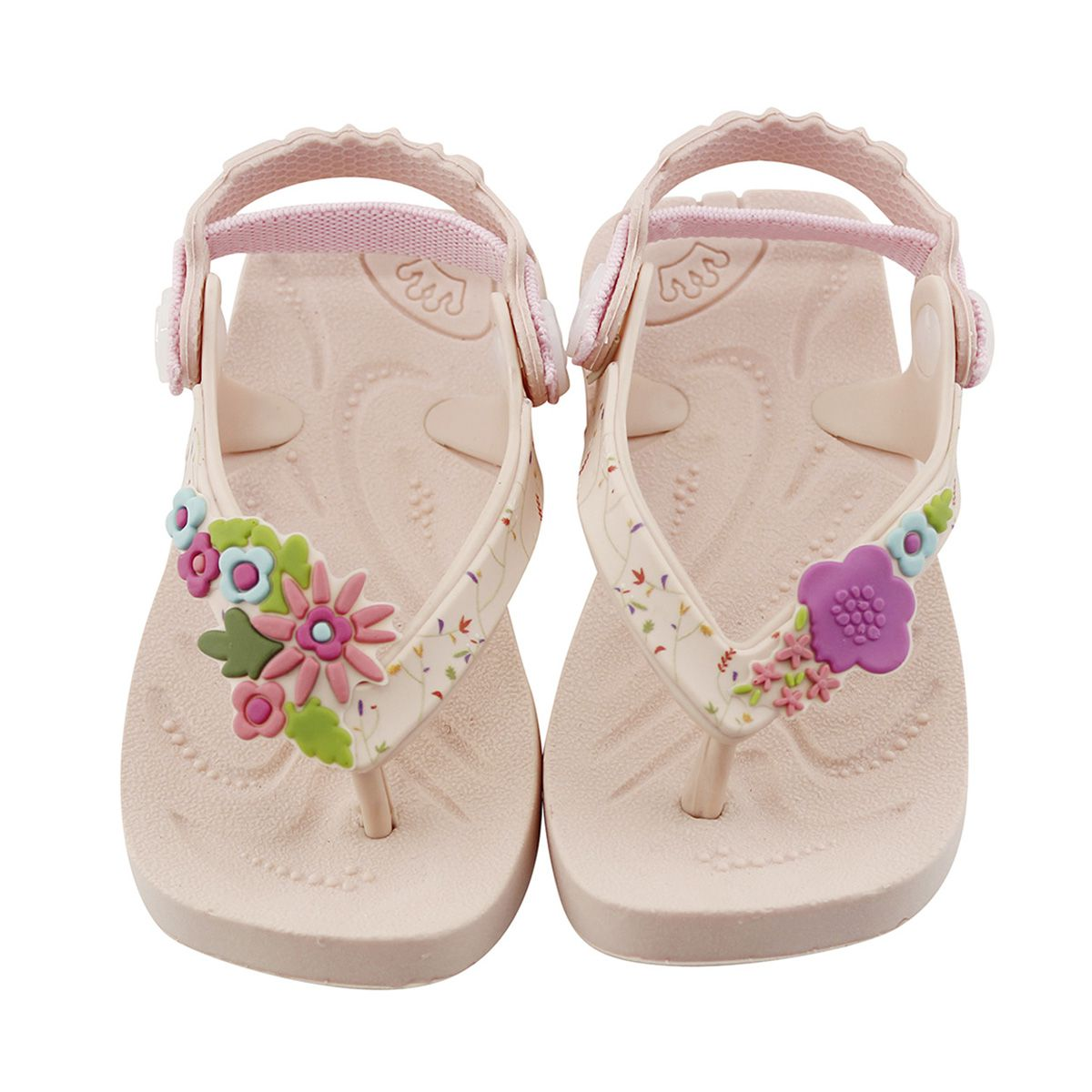 Chinelo Plugt Beach Flores Rosa