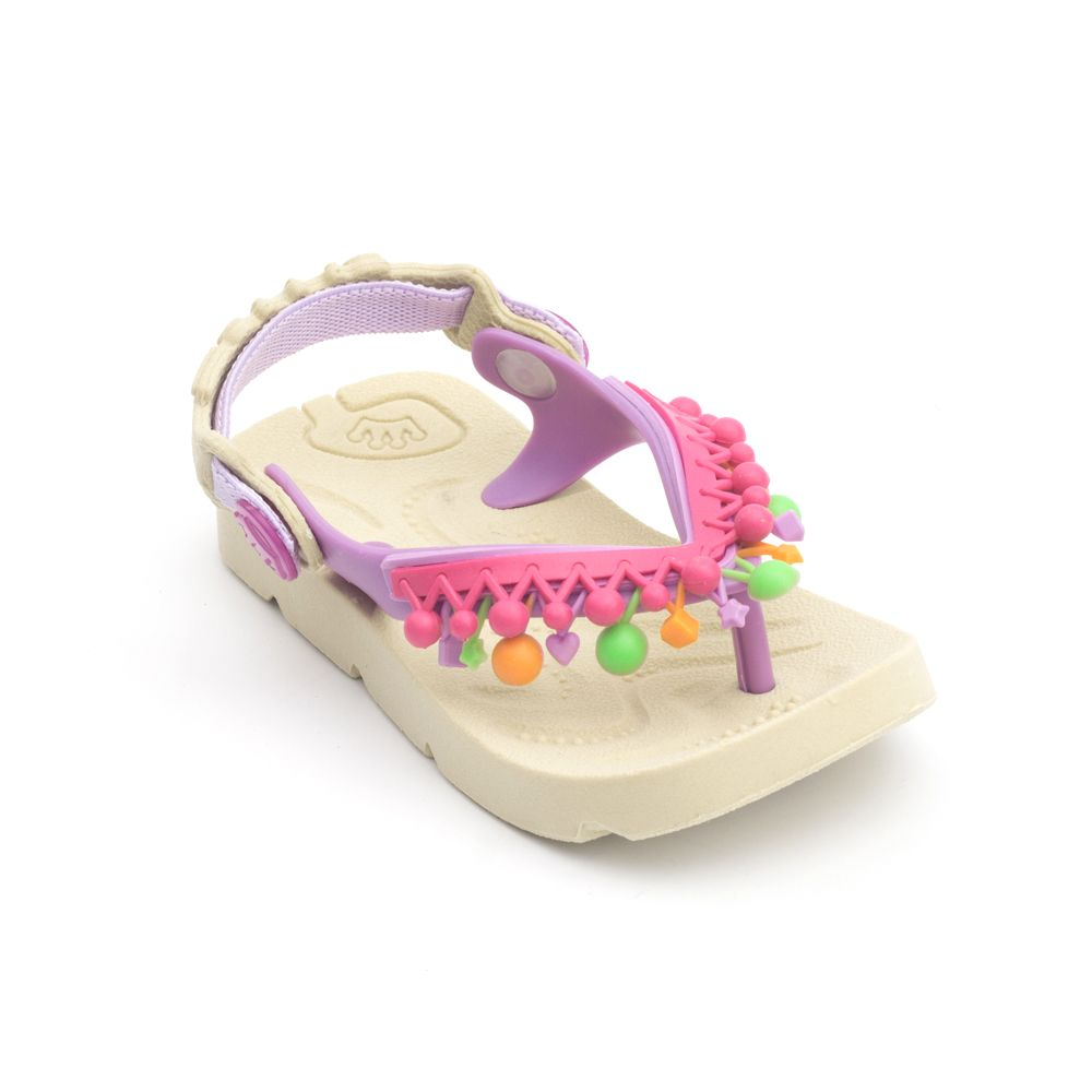 Chinelo Plugt Beach Pompons Infantil