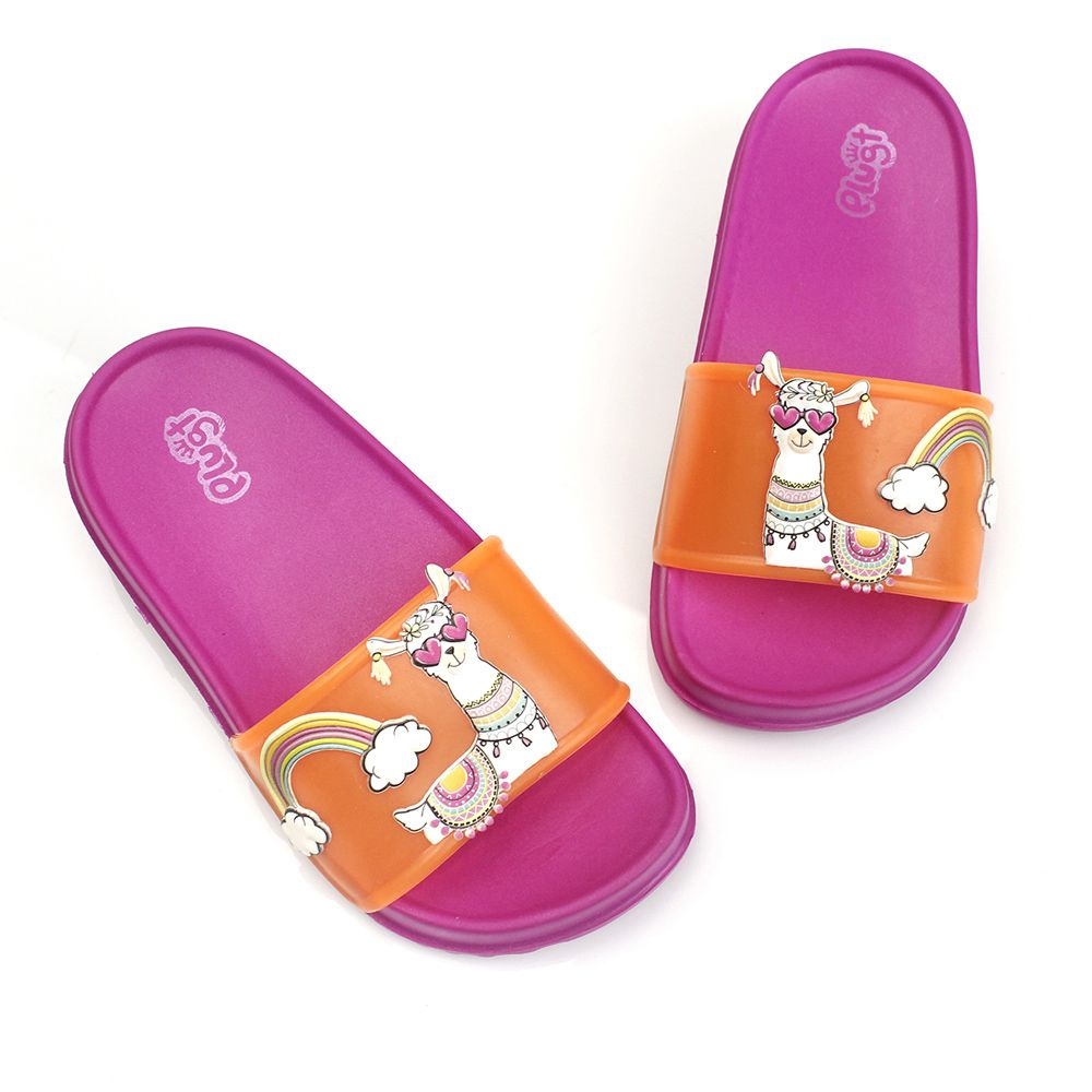 Chinelo Plugt Slide Lhama