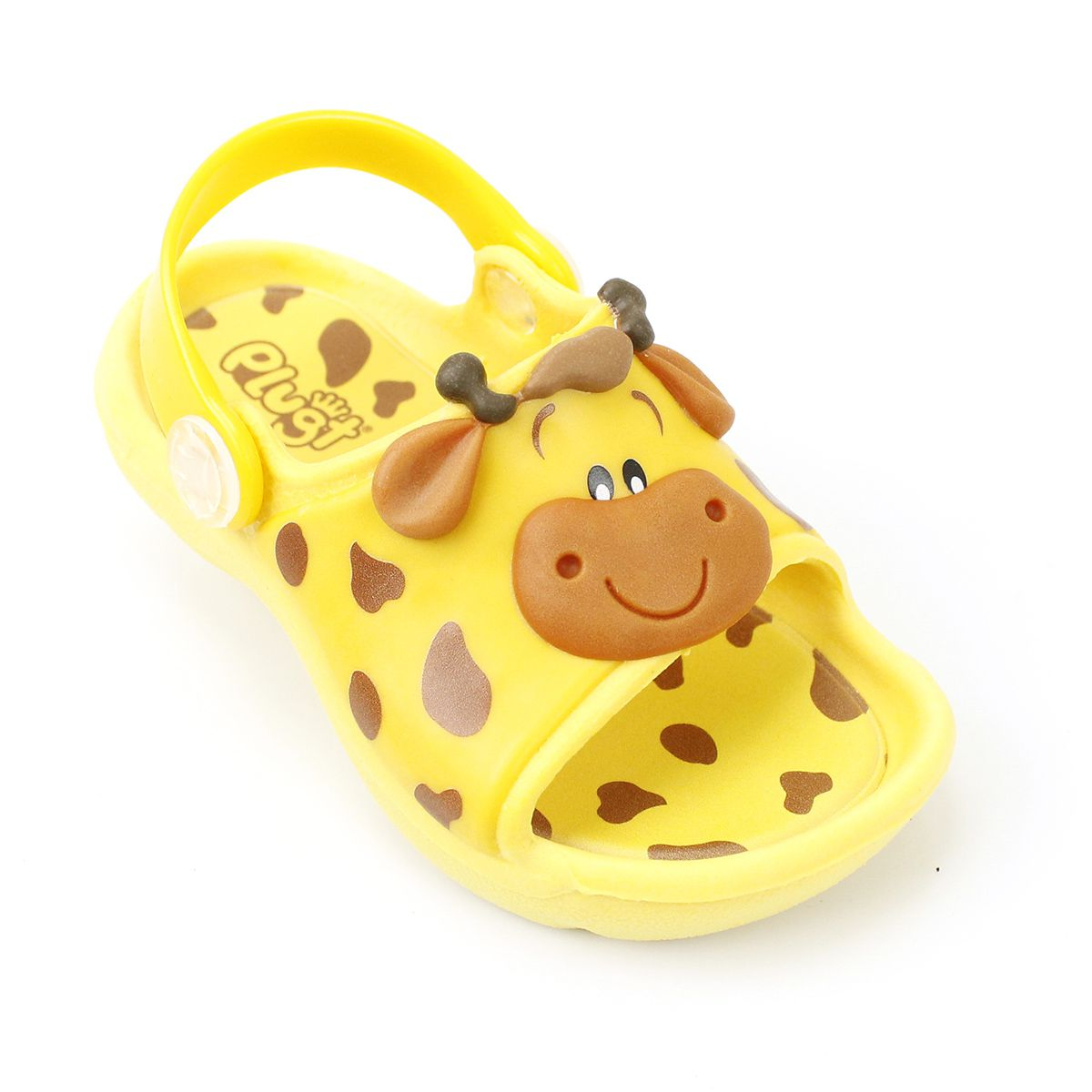 Sandália Plugt Bichinho Girafa Amarelo