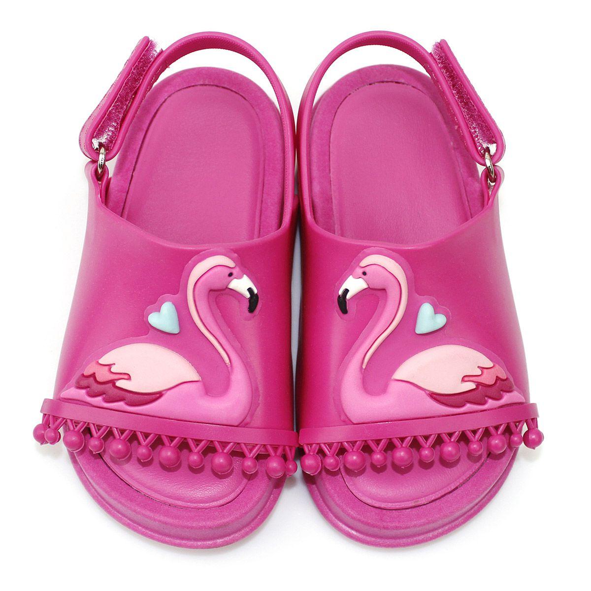 Sandália Plugt Mini Bizz Flamingo