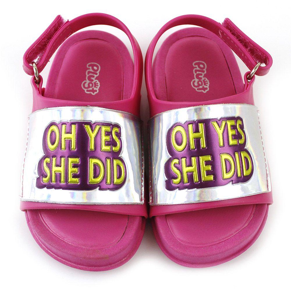 Sandália Plugt Mini Bizz Oh Yes She Did Pink