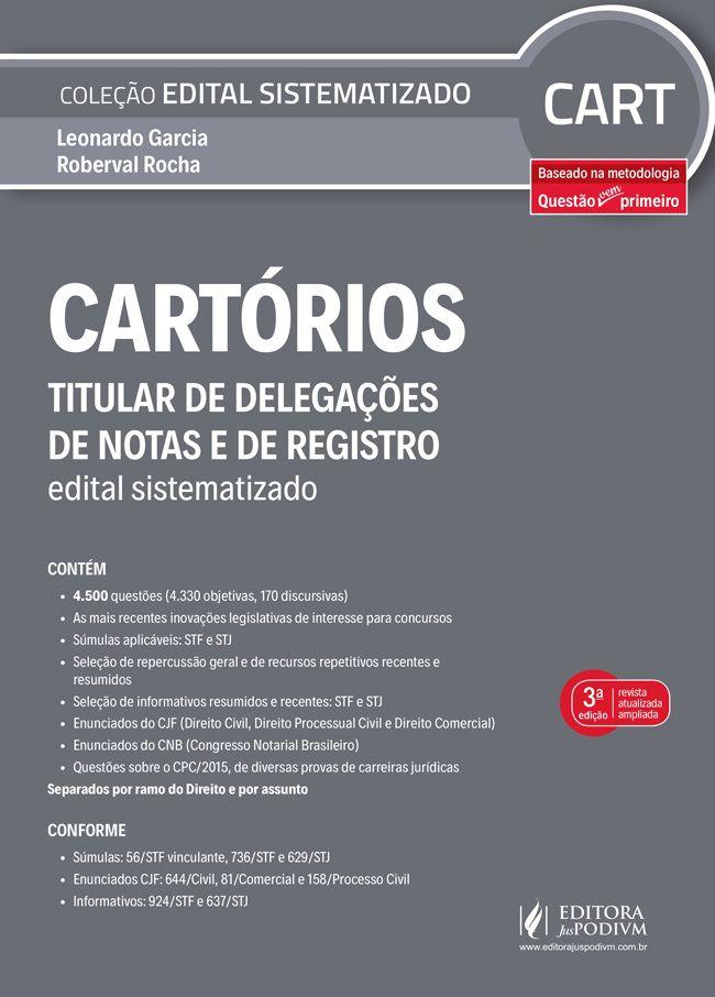Edital Sistematizado - Cartorios