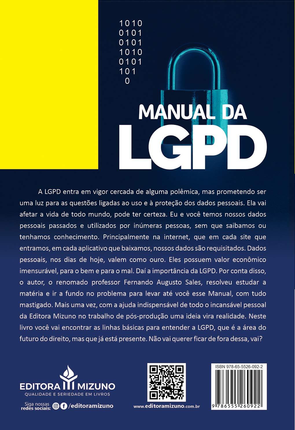 Manual Da Lgpd - Lei Geral Da Proteção De Dados