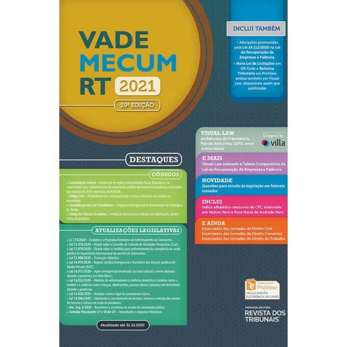 Vade Mecum RT - 2021 19ªEdição