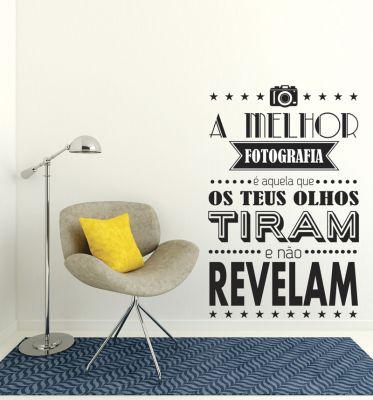 Adesivo Decorativo Frase - Fotografia