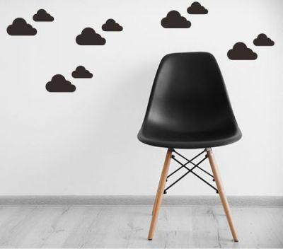 Adesivo Decorativo Geométrico - Nuvem Mista