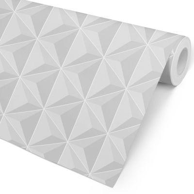 Papel de Parede 3D - Reflexo Cinza