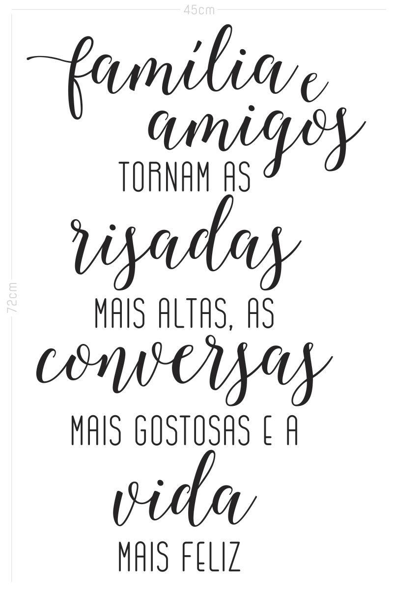 Adesivo Decorativo Frase - Amigos