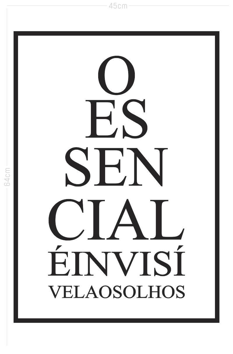 Adesivo Decorativo Frase - O Essencial