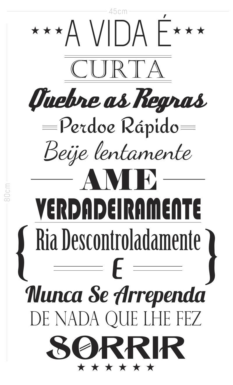 Adesivo Decorativo Frase - Quebre as Regras
