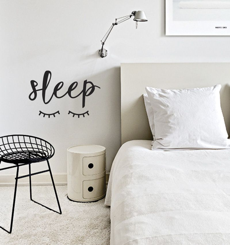 Adesivo Decorativo Frase - Sleep