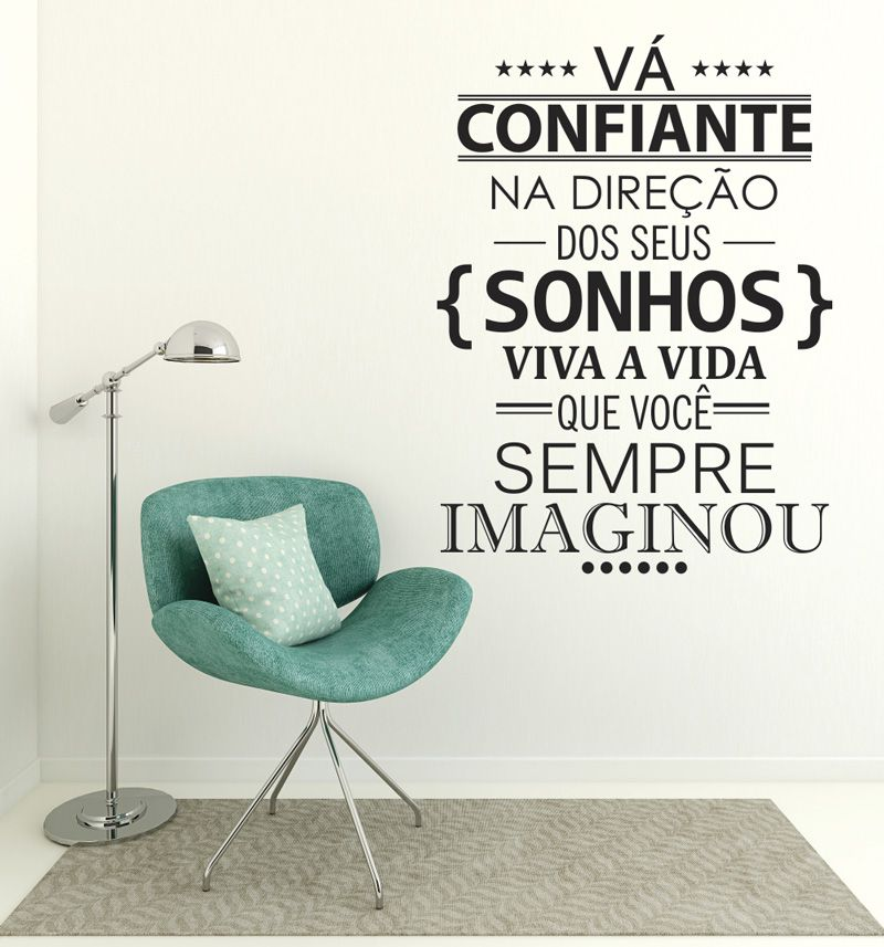 Adesivo Decorativo Frase - Vá Confiante
