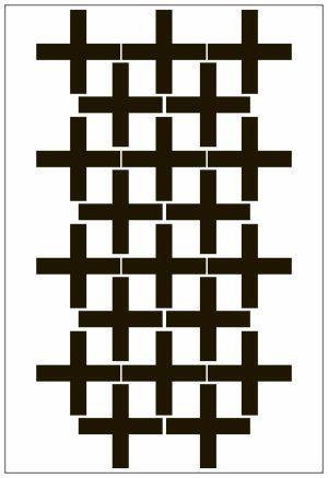 Adesivo Decorativo Geométrico - Cruzetas