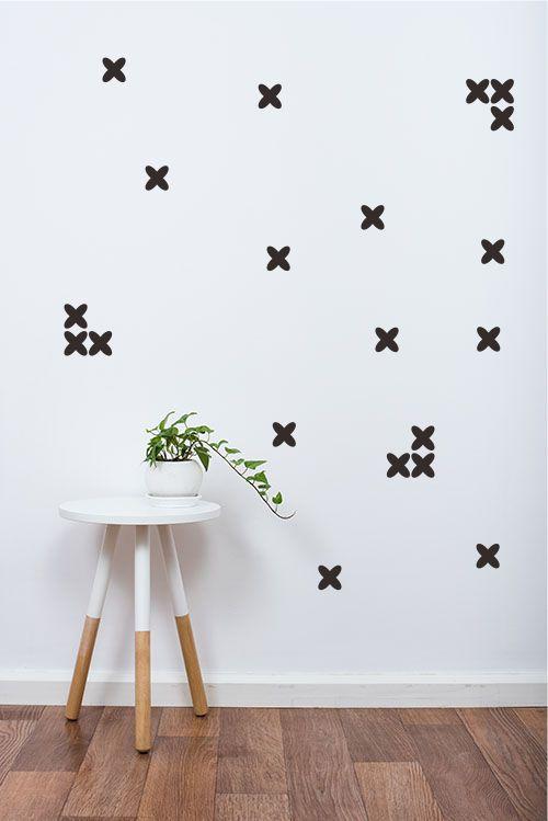 Adesivo Decorativo Geométrico - Cruzetas Arredondadas