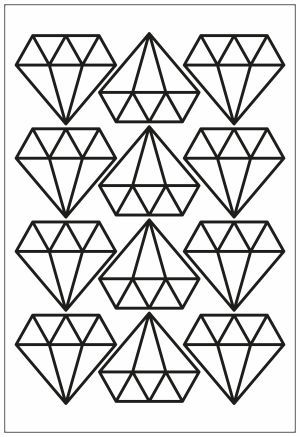 Adesivo Decorativo Geométrico - Diamantes