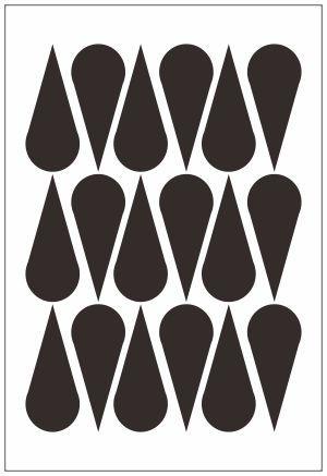 Adesivo Decorativo Geométrico - Gotas Esticadas
