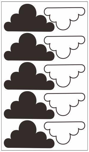 Adesivo Decorativo Geométrico - Nuvem Mista Linha